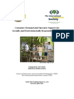Consumer Demand and Operator Support for Socially and Environmentally Responsible Tourism