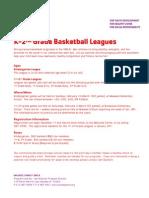 Winter 2012 K-2nd Basketball Leagues