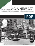 Chicago Transit Authority's 2013 Budget