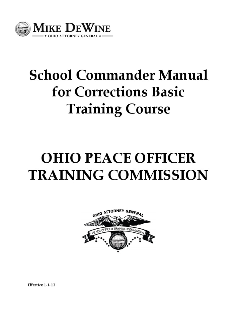Corrections Basic Training Commander Manual Effective 1-1-13 | Professional  Certification | Recruit Training