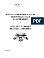 Peace Officer Basic Training Commander Manual Effective 1-1-13