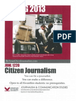 Citizen Journalism - Spring 2013