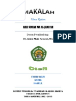 Ahli Sunnah Wa Al-Jama'Ah PDF