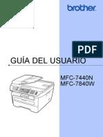 Guia Usuario Impresora Brother Mfc7440n