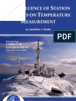 The Influence of Station Numbers on Temperature Measurement