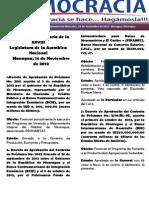 Barómetro Legislativo Diario del miércoles, 14 noviembre de 2012