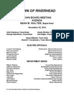 Riverhead Town Board agenda 11-20-2012