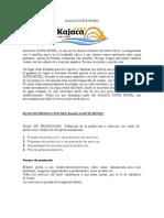 Plan de Produccion Hotelera