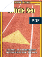 Report Article SEO