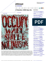 Occupy Wall Street, Not Palestine