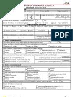 Planilla de Registro Gmamv