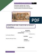 Hospitales en La Epoca Colonial Cusco