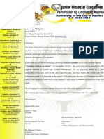 Food Sponsorship Letter
