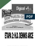 Resultados 2da Etapa XXXII Vuelta a Chiriqui