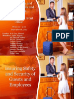 Insuring Safety and Security of Guests and Employees & Training in the Front Office
