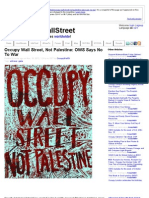 Occupy Wall Street, Not Palestine/ OWS Says No To War v. 2.0