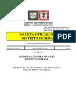 Ley de Sociedad de Convivencia Para El Distrito Federal