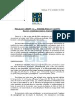Declaración CADe por la huelga del Sindicato Salud UC
