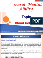General Mental Ability Blood Relations