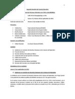 Acta 2da Reunión CE REDBOL 27 y 28 de octubre de 2012