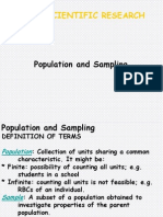 Population and Sampling in Health Research