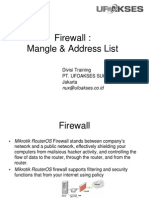 Modul Firewall Mangle&Address List