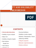 Solubility Lecture 1, 2 & 3