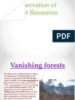 Conservation of Forest Resources