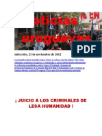Noticias Uruguayas miércoles 21 de noviembre del 2012