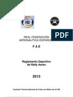 Reglamento FAE Rally 2013