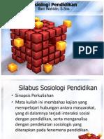 Silabus Sosiologi Pendidikan