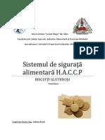 HACCP biscuiti glutenosi