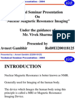 Nuclear Magnetic Resonance Imaging