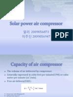 Project on Solar Power Air Compressor | Gas Compressor