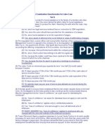 Bar Examination Questionnaire for Labor Law