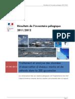 Traitement et analyse des données d'observation d'oiseaux marins et de cétacés dans la ZEE guyanaise