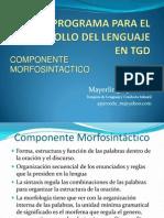 Clase 6 Programa Componente Morfosintactico