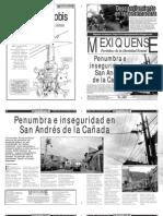 Versión impresa del periódico El mexiquense 21 de noviembre 2012