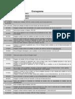 Cronograma UFPE 2013