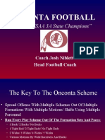 2004 AHSAA 3A State Champions Oneonta Playbook by Joe Niblet