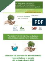 Tendencias Emergentes V World Café de Euskadi para la Igualdad