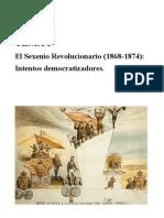 El Sexenio Revolucionario (1868-1874) Intentos Democratizadores