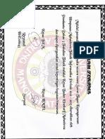 Surat Terima Kepengurusan HMTI periode 2012-2013
