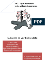 Tipuri de modele econometrice