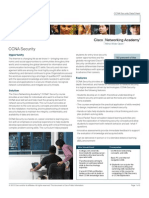CCNA Security Data Sheet