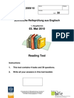 "Reading Comprehension (RC) / Leseverstehen (LV) - ""HT1 2009/10"""