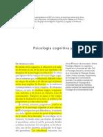 PSICOLOGIA COGNITIVA Y EDUCACIÓN