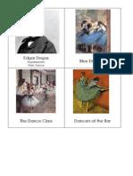 Edgar Degas Art Cards