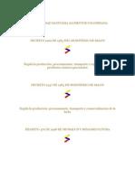 Normatividad Sanitaria Alimentos Colombiana