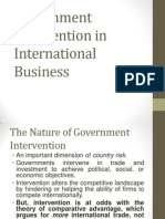 Govt. Intervention